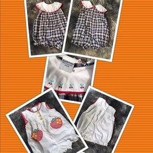Like New 2 Samara rompers outfits Size 6-9 months